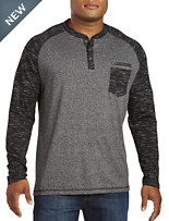 PX Clothing Twisted Colorblock Henley