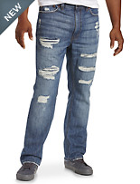 True Nation® Deakin Distressed Athletic-Fit Stretch Jeans