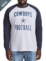 NFL Cowboys Long-Sleeve Colorblock Shirt