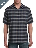 Harbor Bay Medium Plaid Microfiber Sport Shirt