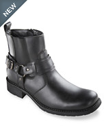Unlisted® by Kenneth Cole Cop-Car Side-Zip Harness Boots