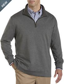 Oak Hill® Birdseye Zip Mock-Neck Pullover