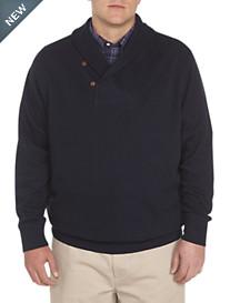 Oak Hill® Ribbed-Knit Shawl Collar Pullover