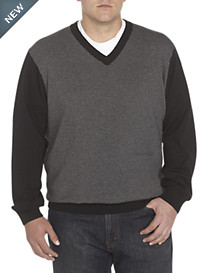 Synrgy® Diagonal Stripe V-Neck Pullover
