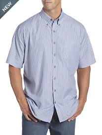 Harbor Bay® Short-Sleeve Easy-Care Stripe Sport Shirt