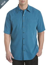 Harbor Bay® Multi Mini Check Microfiber Sport Shirt