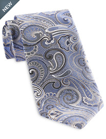 Geoffrey Beene® Silver Star Paisley Tie