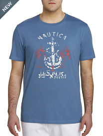 Nautica® Anchor and Palm Trees Tee