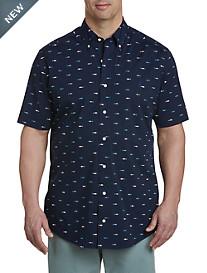 Nautica Shark Print Sport Shirt