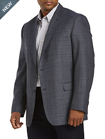 Jean -Paul Germain Textured Windowpane Sport Coat--Executive Cut
