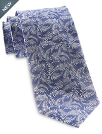 Michael Kors® White Palm Leaves Silk Tie