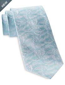Michael Kors® White Palm Leaves Silk Tie