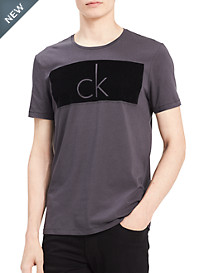 Calvin Klein Jeans® Knockout Flocked Logo Graphic Tee