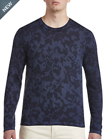 Michael Kors® Abstract Floral Crewneck Sweater
