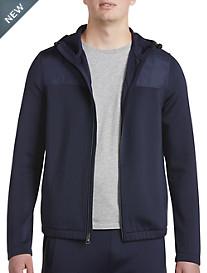 Michael Kors® Nylon-Trim Scuba Zip-Front Hoodie