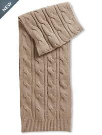Paul Stuart Cable-Knit Cashmere Scarf