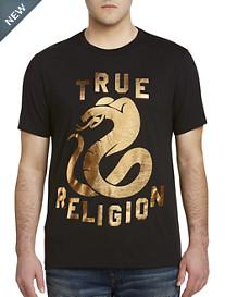 True Religion® Metallic Cobra Tee