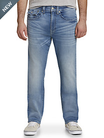 True Religion® Geno Straight Fit Denim Jeans – Satellite Light Wash