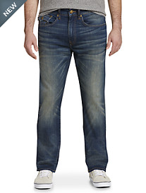 True Religion® Geno Straight Fit Denim Jeans – Indigo Dark Wash
