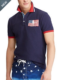 Polo Ralph Lauren® Classic Fit USA Flag Patch Polo Shirt