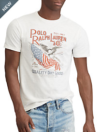 Polo Ralph Lauren® Classic Fit USA Flag Graphic Tee