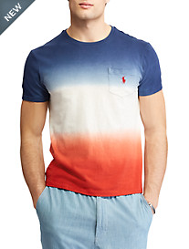 Polo Ralph Lauren® Classic Fit USA Dip-Dye Tee