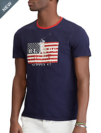 Polo Ralph Lauren® Classic Fit USA Flag with Pony Graphic Tee