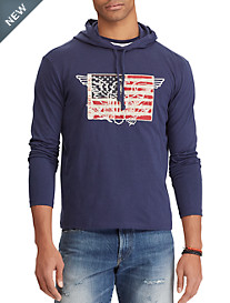 Polo Ralph Lauren Slub Jersey Hooded Long-Sleeve Tee