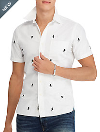 Polo Ralph Lauren Classic Fit Skull and Bones Sport Shirt