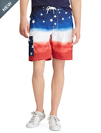 Polo Ralph Lauren Stars & Stripes Ombré Kailua Swim Trunks