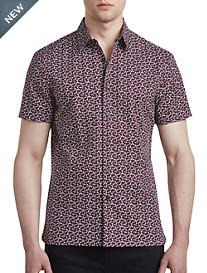 Perry Ellis® Cactus-Print Stretch Sport Shirt