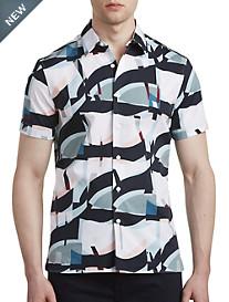 Perry Ellis® Oversized Geometric-Print Sport Shirt