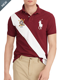 Polo Ralph Lauren® Big Pony Diagonal Stripe Mesh Polo