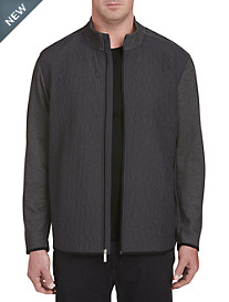 Perry Ellis Quilted Full-Zip Jacket