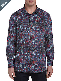 Perry Ellis Multi Print Sport Shirt