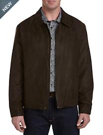 Perry Ellis Brown Faux-Suede Jacket