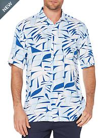 Cubavera Geo Tropical Print Sport Shirt