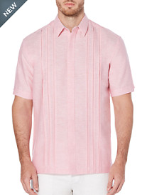 Cubavera Panel-Front Solid Sport Shirt