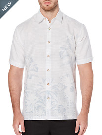 Cubavera Palm Tree Print Sport Shirt