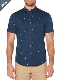 Cubavera Mini Avocado Print Sport Shirt