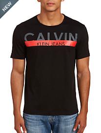 Calvin Klein Jeans Ss Knockout Stripe Crew Tee