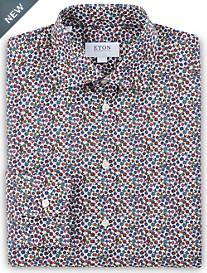 Eton Floral Print Dress Shirt