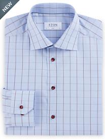 Eton Plaid Dress Shirt