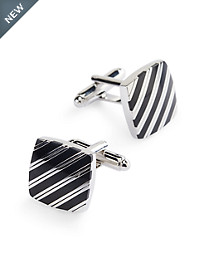 Jan Leslie Striped Square Cuff Links