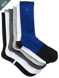 Polo Ralph Lauren 6-pk Athletic Crew Socks