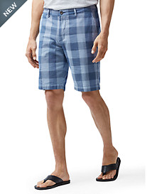 Tommy Bahama® Diego Flat-Front Plaid Shorts