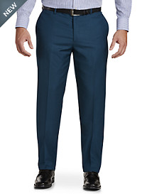 English Laundry Solid Flat-Front Suit Pants