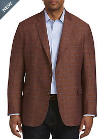 Jean-Paul Germain Windowpane Linen Sport Coat