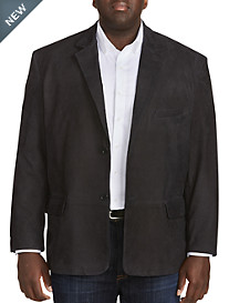 Remy Leather Two-Button Blazer