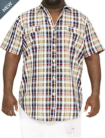 MVP Collections Summer Plaid Sport Shirt